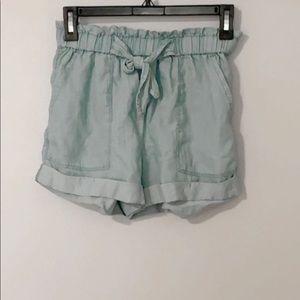 AERIE light blue paper bag shorts!